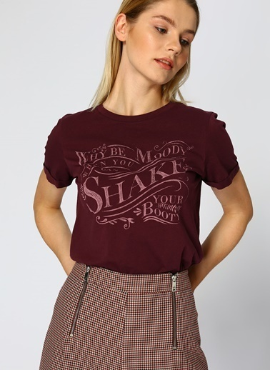 Vero Moda Tişört Bordo